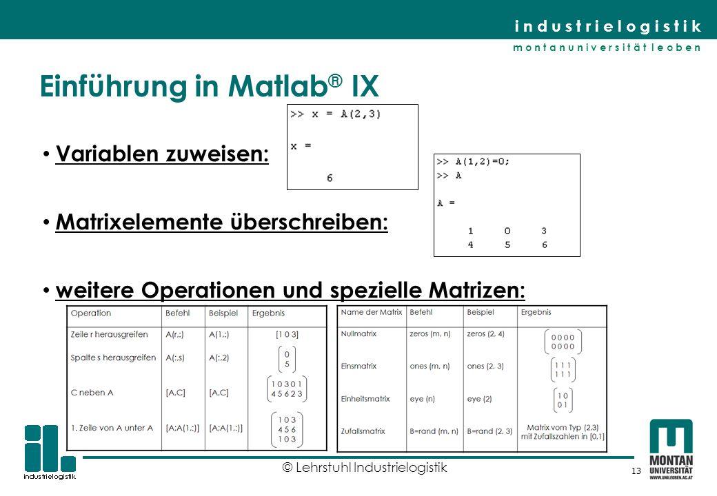 Einführung in Matlab® IX