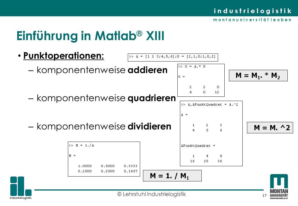 Einführung in Matlab® XIII