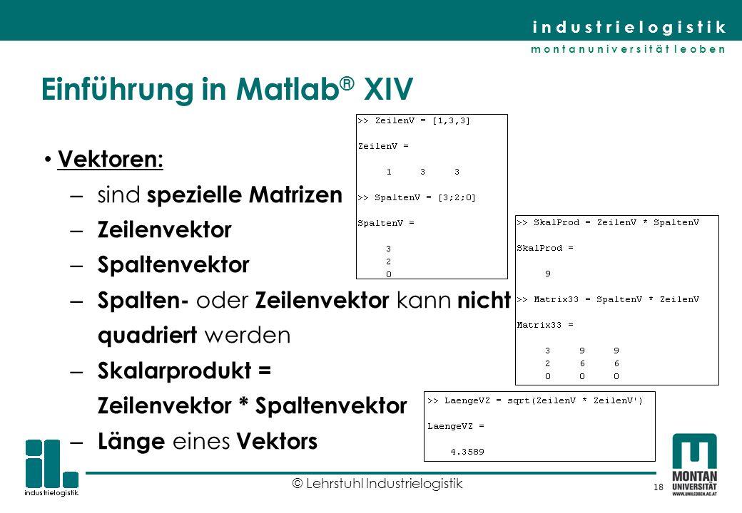 Einführung in Matlab® XIV