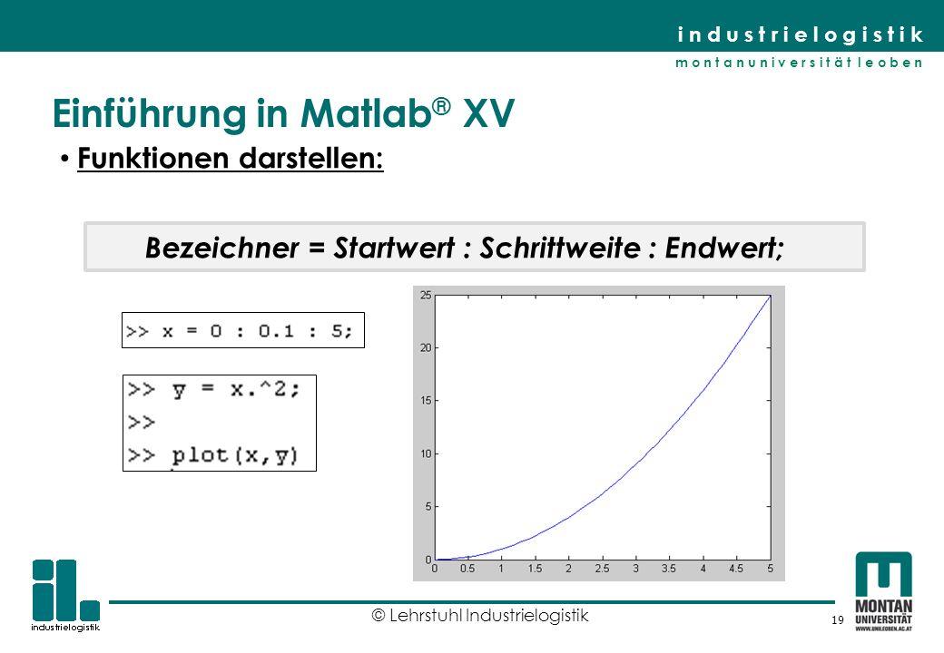 Einführung in Matlab® XV