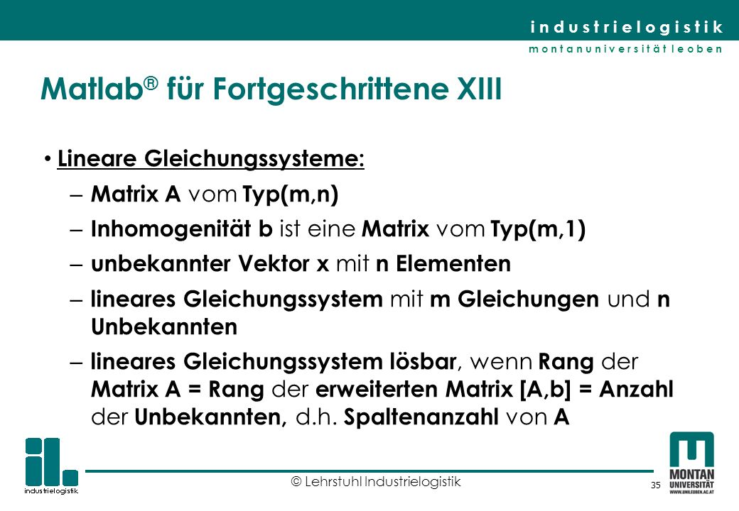 Matlab® für Fortgeschrittene XIII