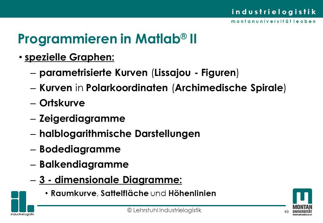 Programmieren in Matlab® II