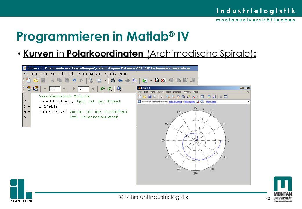 Programmieren in Matlab® IV