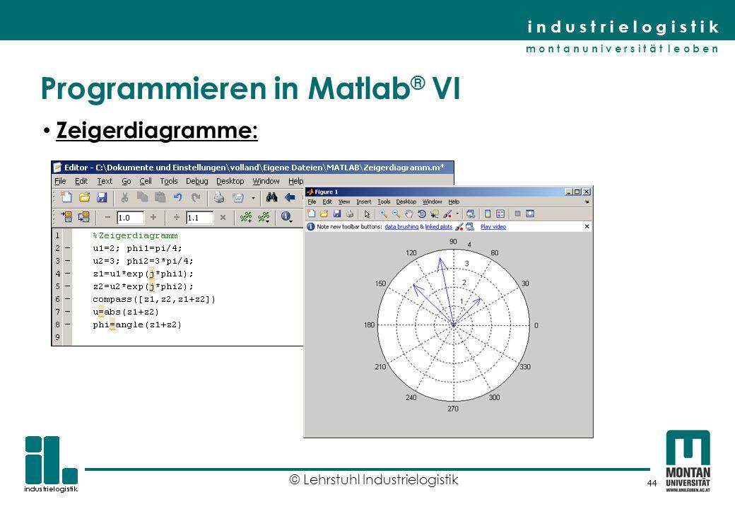 Programmieren in Matlab® VI