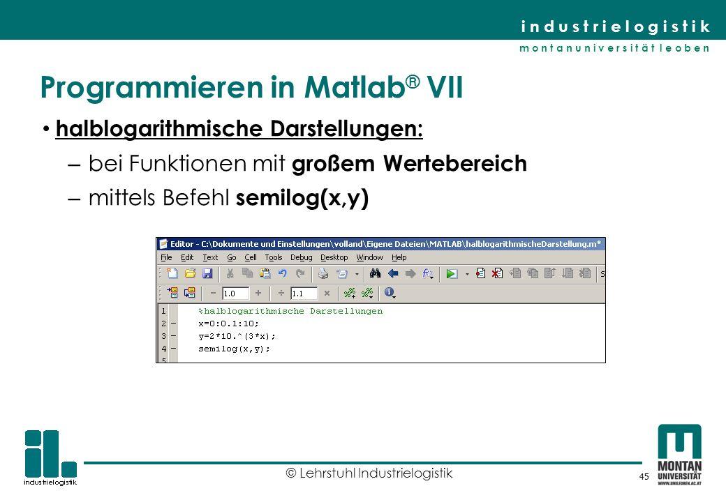 Programmieren in Matlab® VII