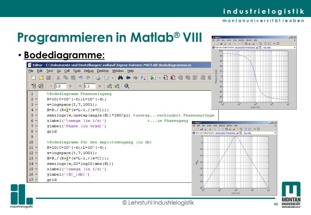 Programmieren in Matlab® VIII