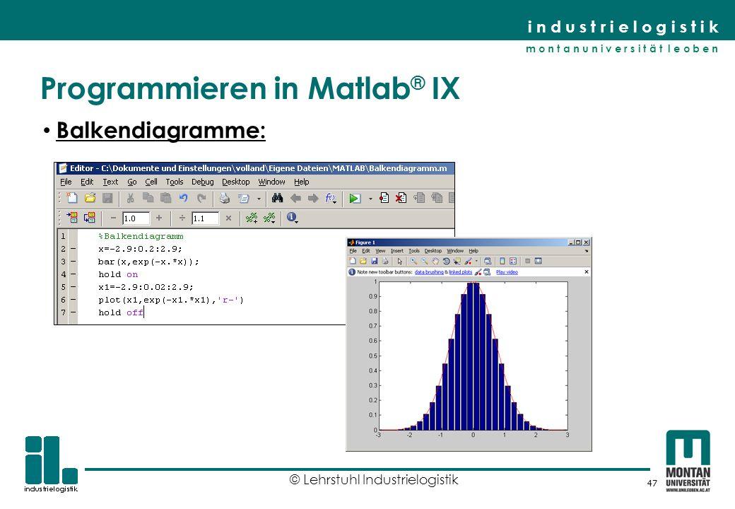 Programmieren in Matlab® IX