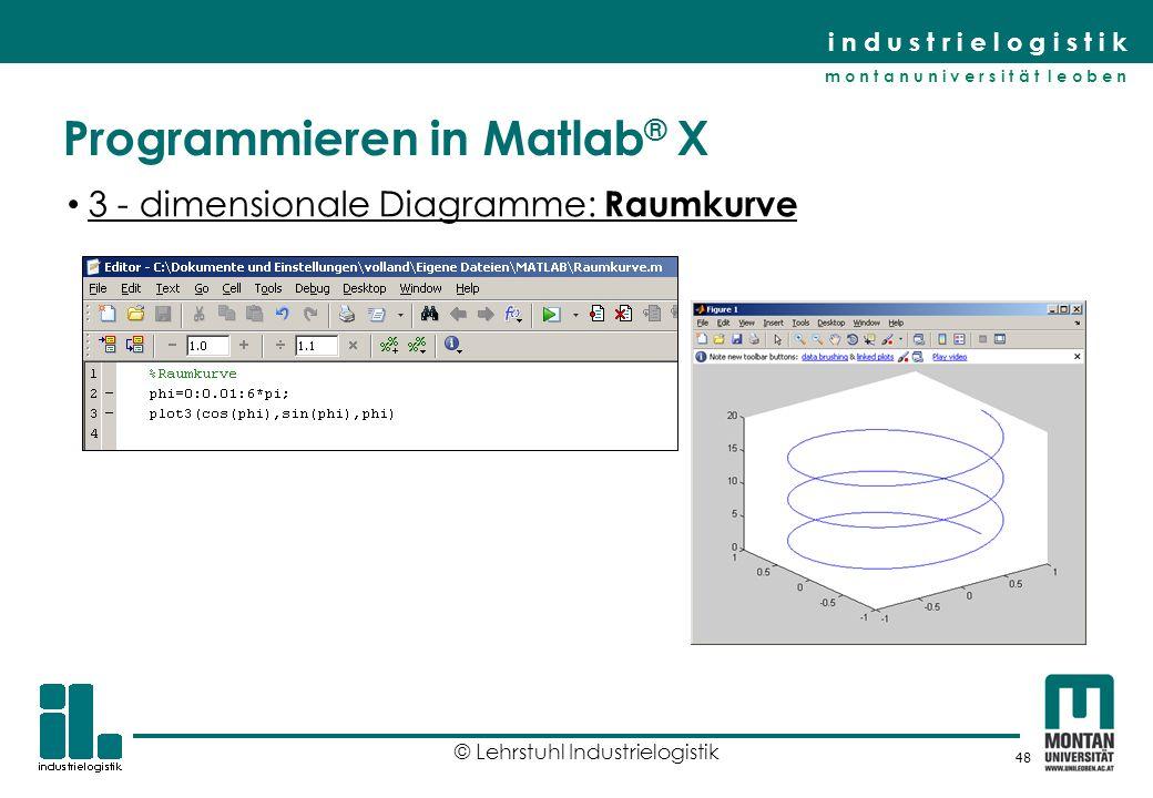 Programmieren in Matlab® X