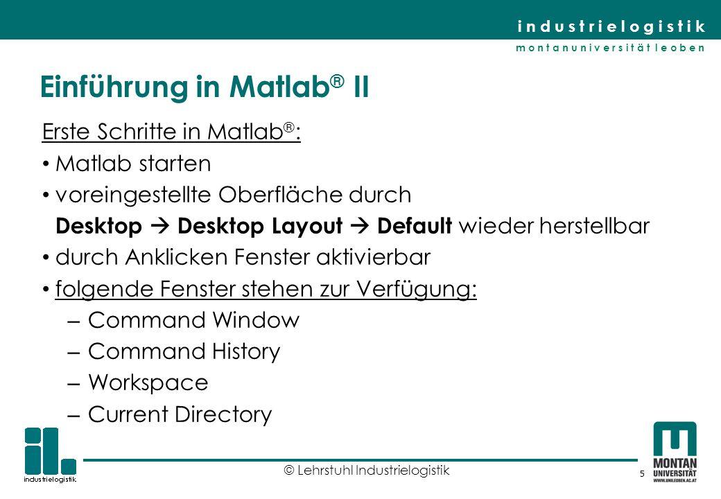 Einführung in Matlab® II