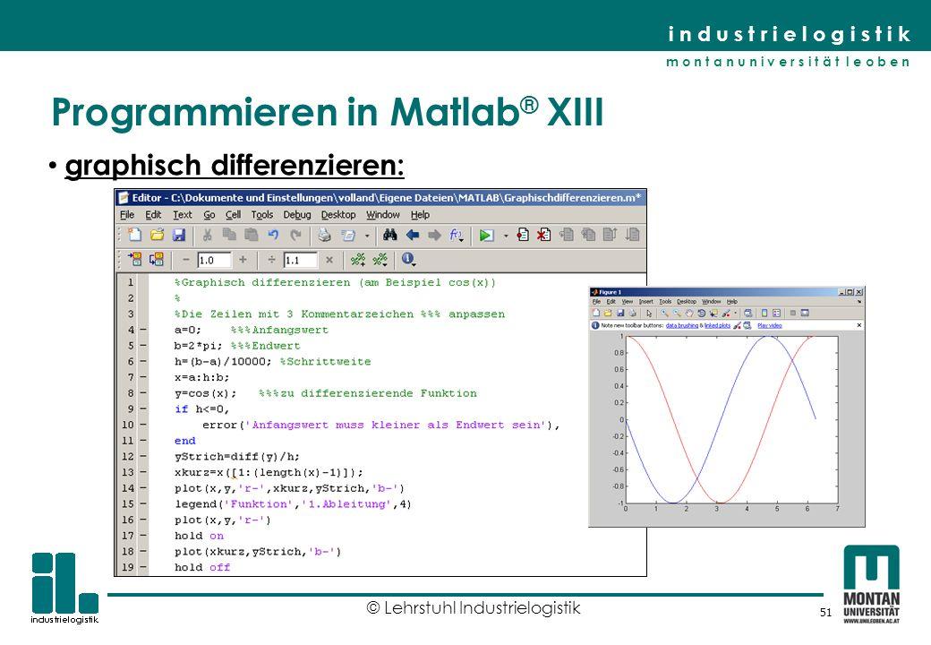 Programmieren in Matlab® XIII