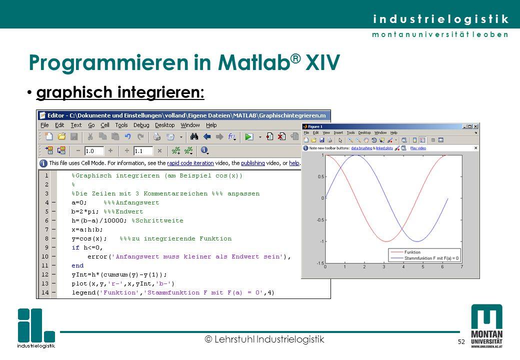 Programmieren in Matlab® XIV