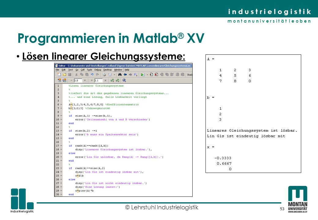 Programmieren in Matlab® XV