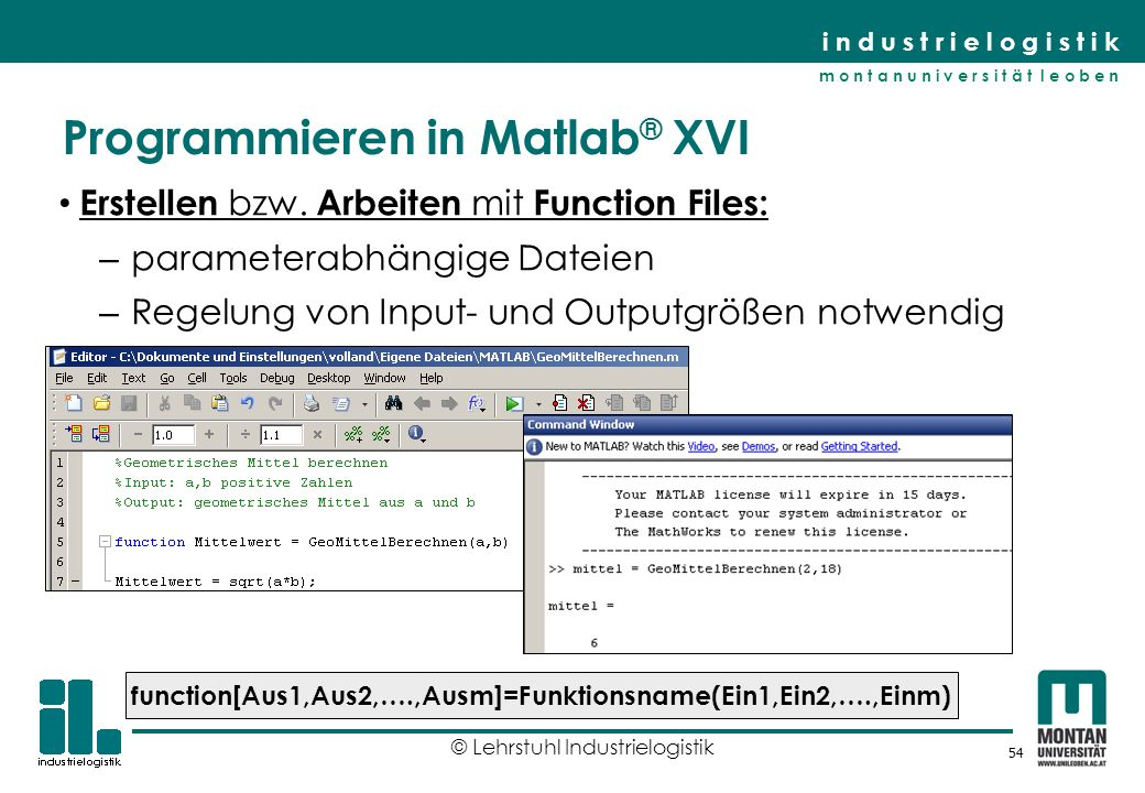 Programmieren in Matlab® XVI