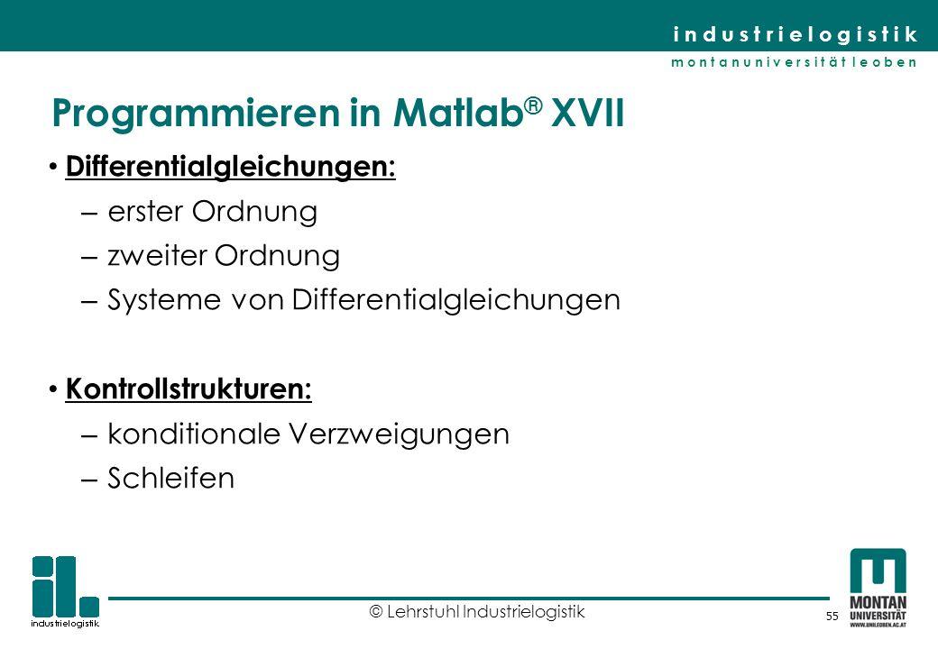 Programmieren in Matlab® XVII