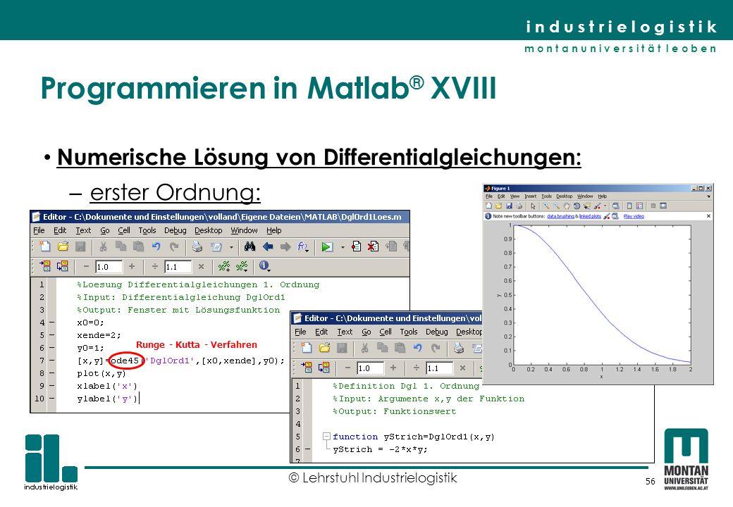 Programmieren in Matlab® XVIII