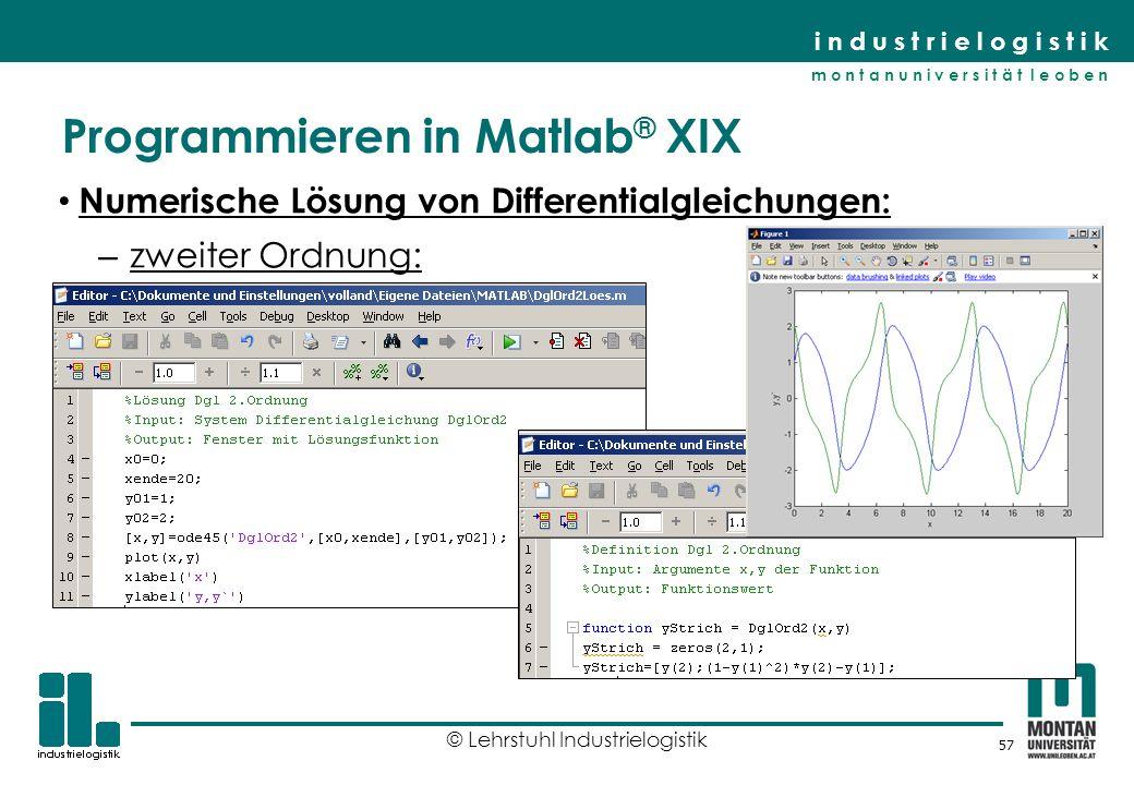 Programmieren in Matlab® XIX