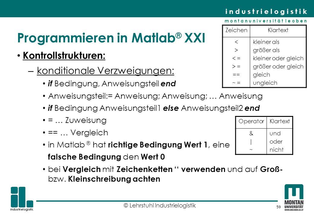Programmieren in Matlab® XXI