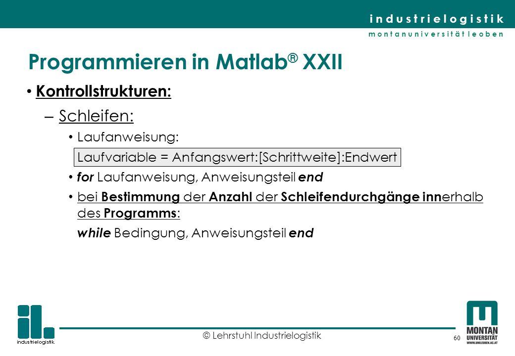 Programmieren in Matlab® XXII