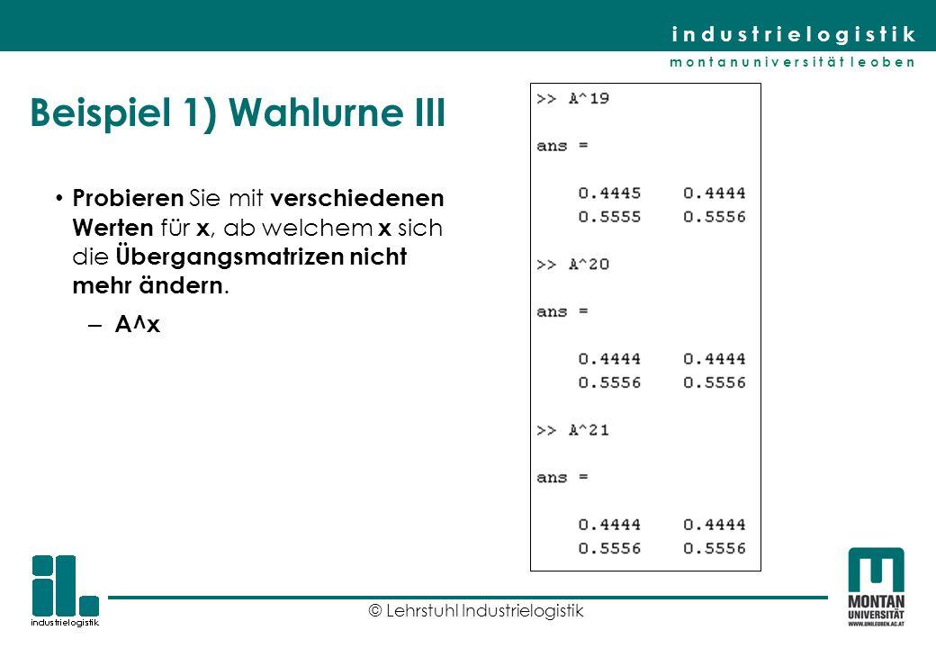 Beispiel 1) Wahlurne III