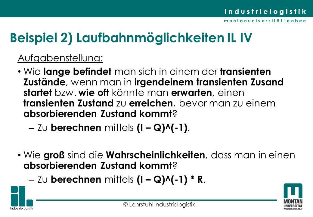 Beispiel 2) Laufbahnmöglichkeiten IL IV