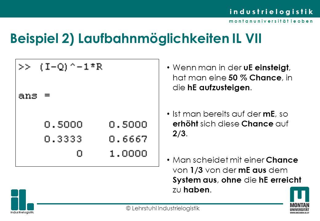 Beispiel 2) Laufbahnmöglichkeiten IL VII