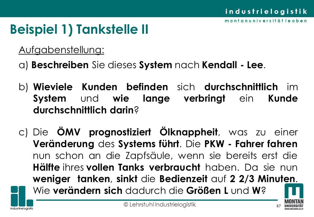 Beispiel 1) Tankstelle II
