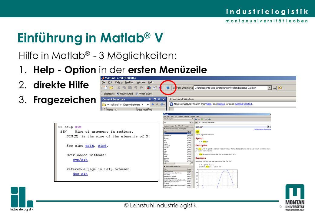Einführung in Matlab® V