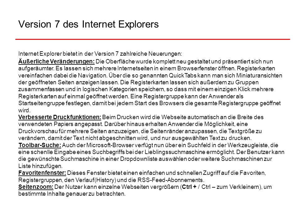 Version 7 des Internet Explorers