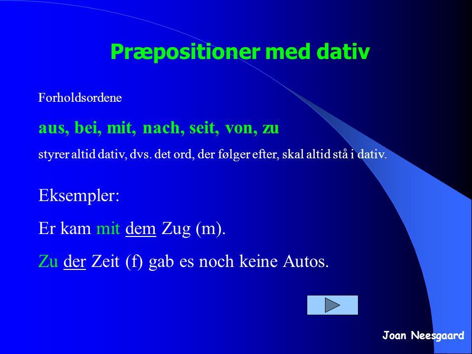 Præpositioner med dativ