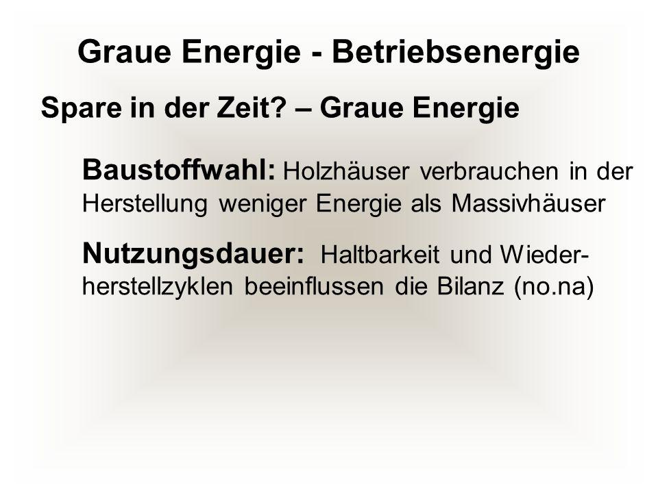 Graue Energie - Betriebsenergie