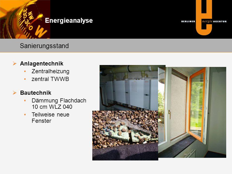 Energieanalyse Sanierungsstand Anlagentechnik Zentralheizung
