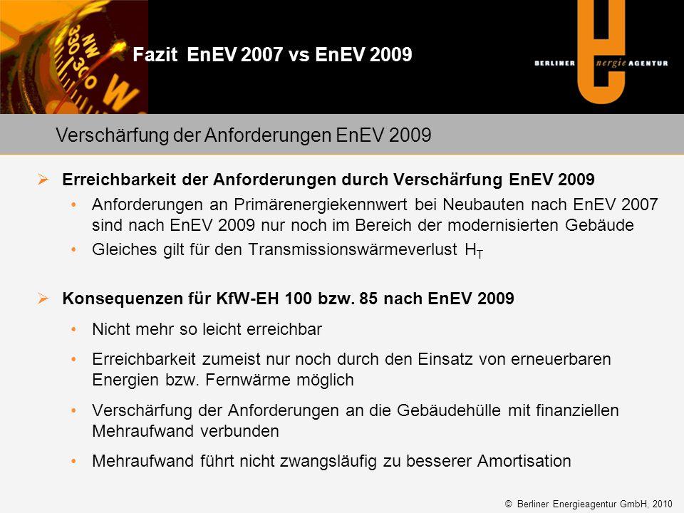 Verschärfung der Anforderungen EnEV 2009