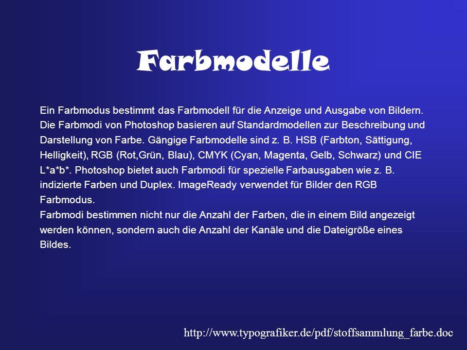 Farbmodelle http://www.typografiker.de/pdf/stoffsammlung_farbe.doc