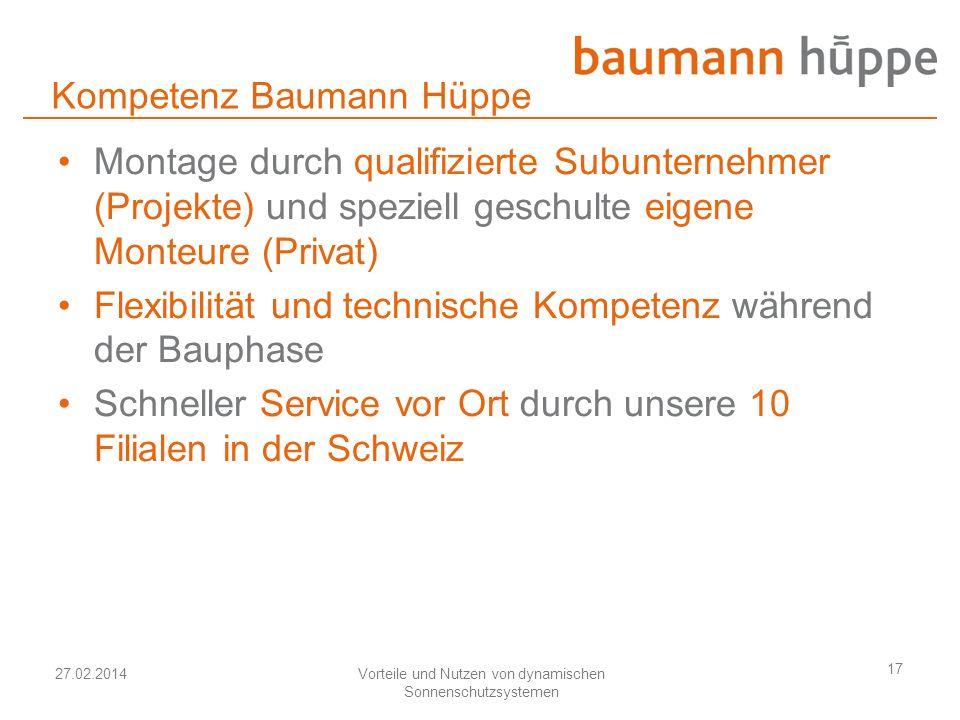 Kompetenz Baumann Hüppe