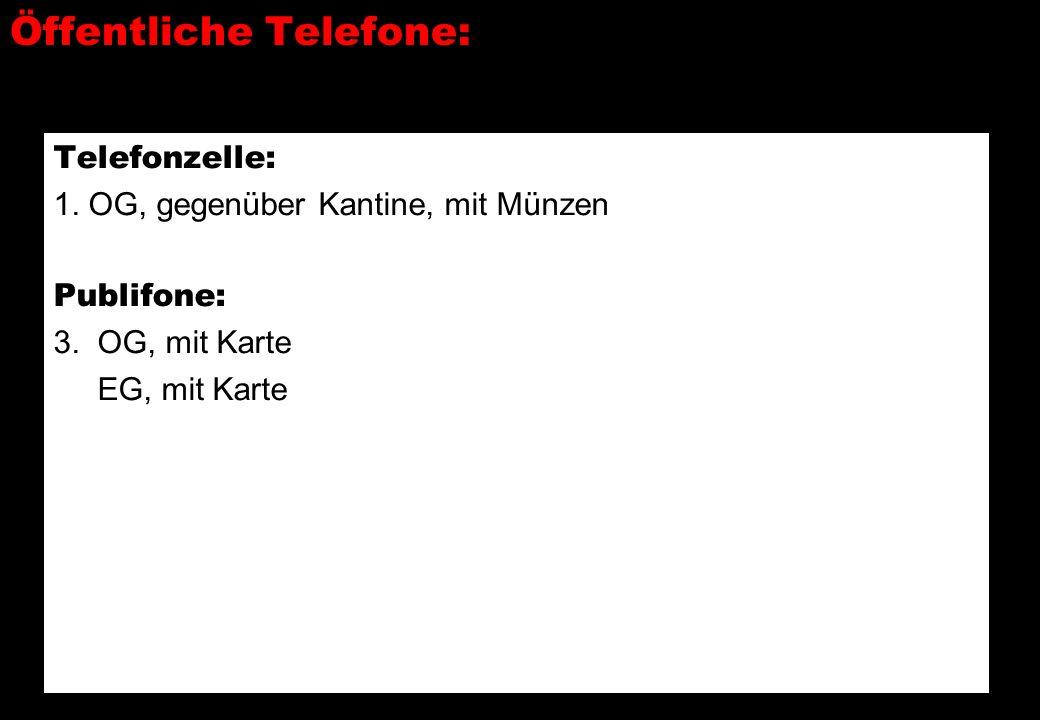 Öffentliche Telefone: