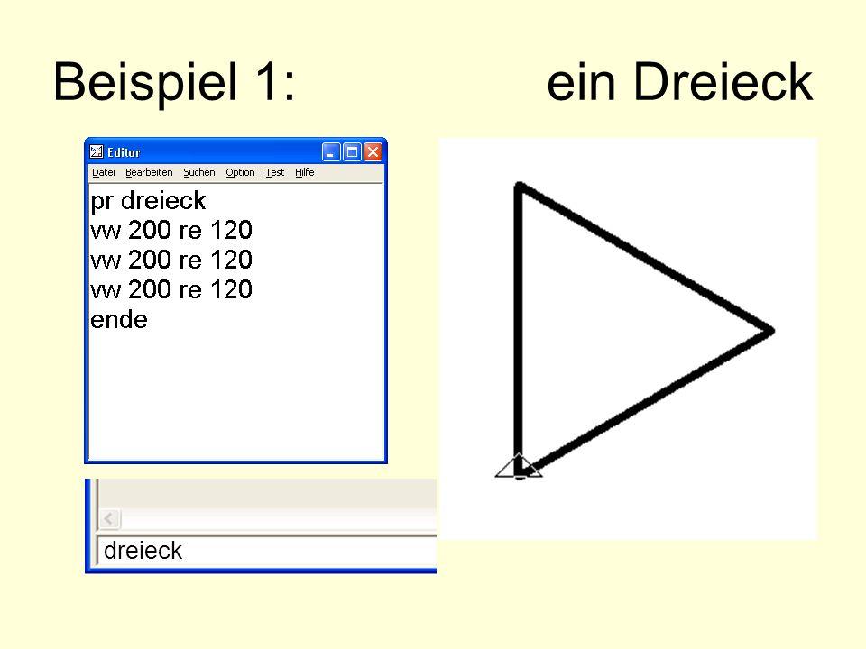 Beispiel 1: ein Dreieck dreieck