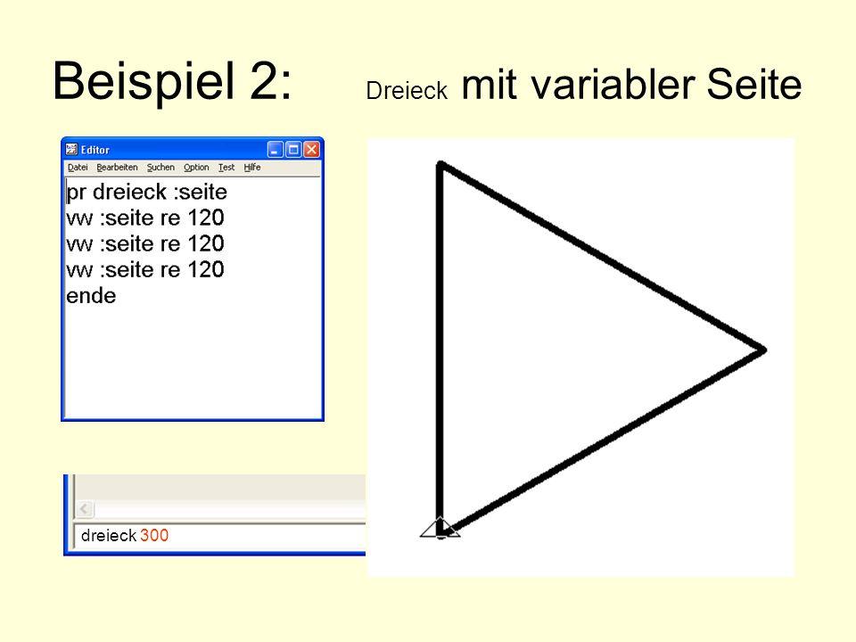 Beispiel 2: Dreieck mit variabler Seite