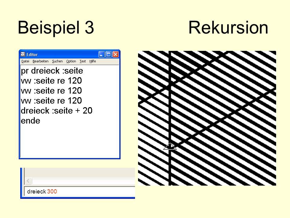 Beispiel 3 Rekursion dreieck 300