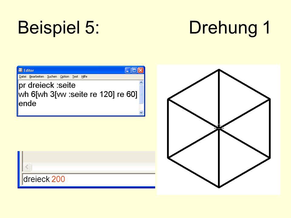 Beispiel 5: Drehung 1 dreieck 200