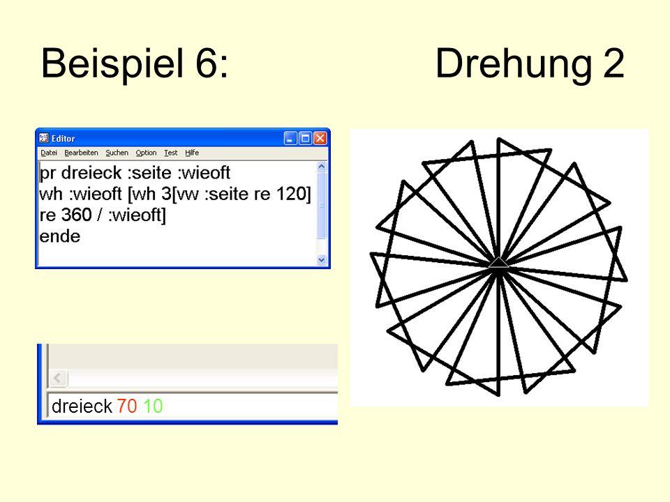 Beispiel 6: Drehung 2 dreieck 70 10
