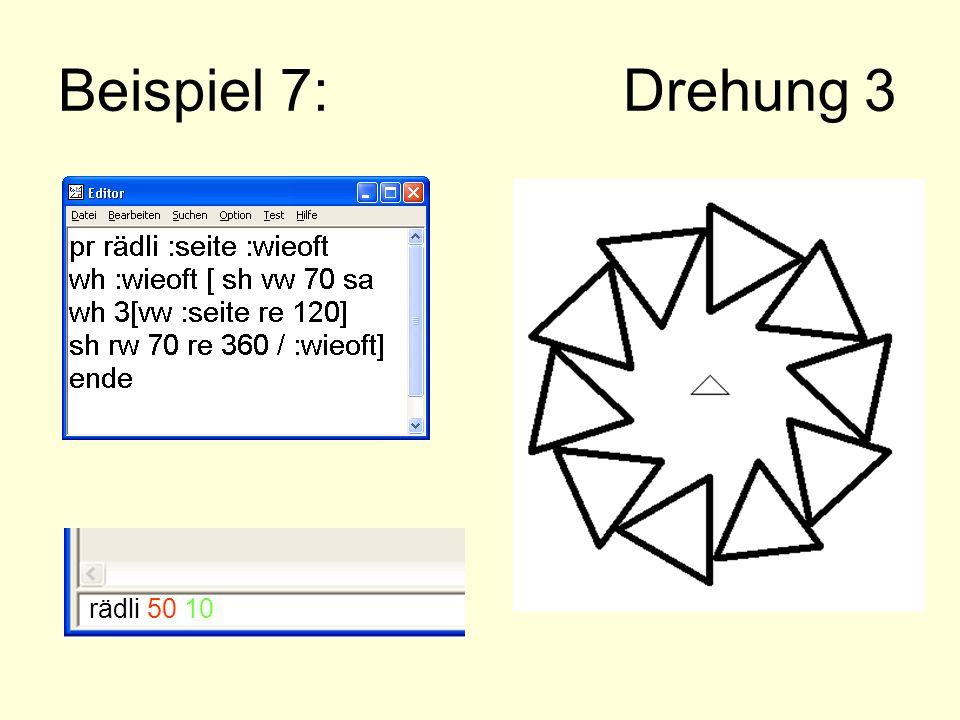 Beispiel 7: Drehung 3 rädli 50 10