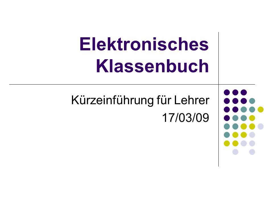 Elektronisches Klassenbuch