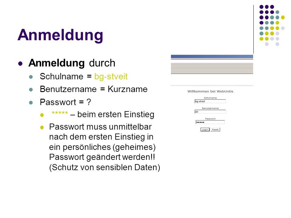 Anmeldung Anmeldung durch Schulname = bg-stveit