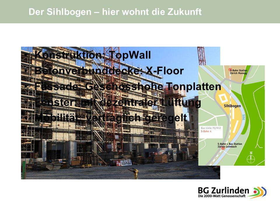 Konstruktion: TopWall Betonverbunddecke: X-Floor