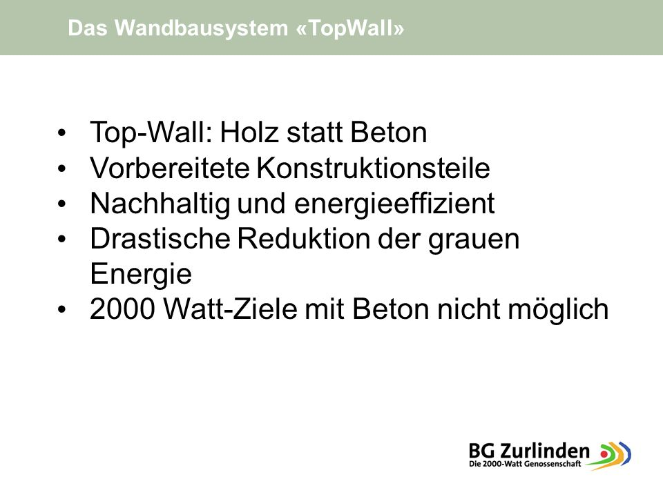 Top-Wall: Holz statt Beton Vorbereitete Konstruktionsteile