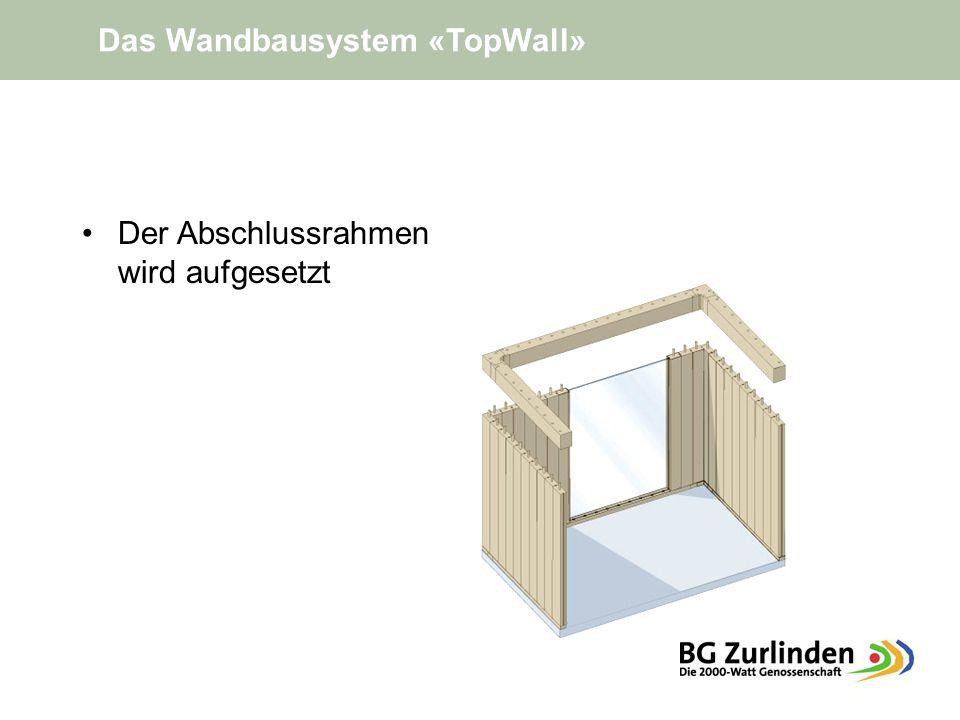 Das Wandbausystem «TopWall»