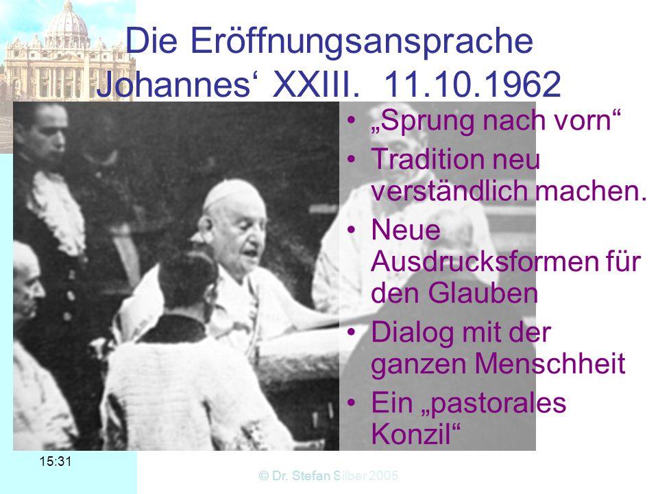 Die Eröffnungsansprache Johannes' XXIII. 11.10.1962