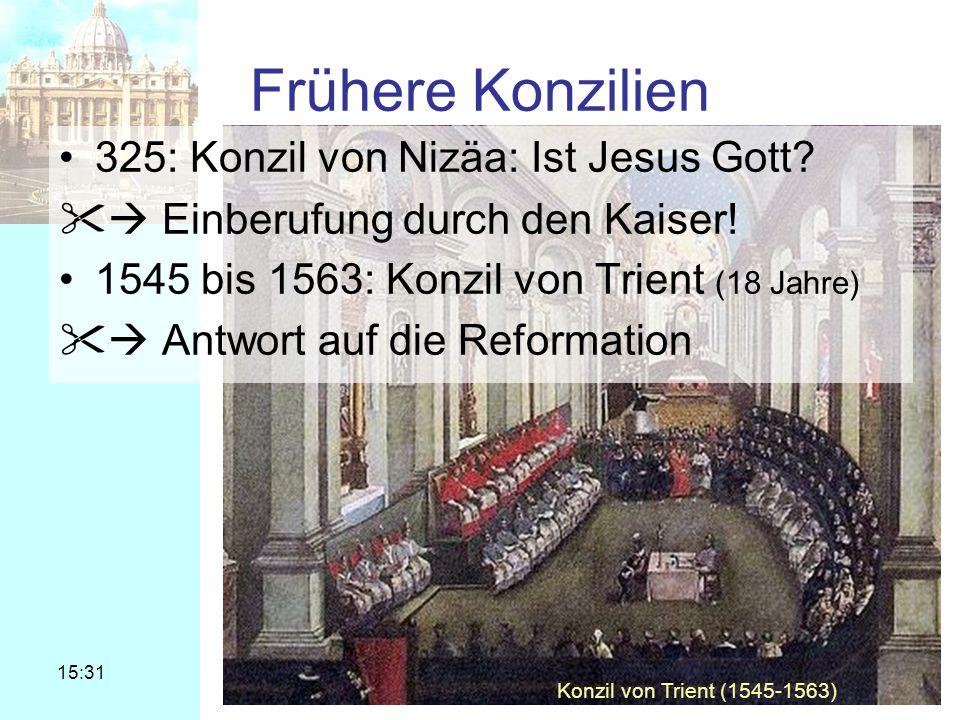 Frühere Konzilien 325: Konzil von Nizäa: Ist Jesus Gott