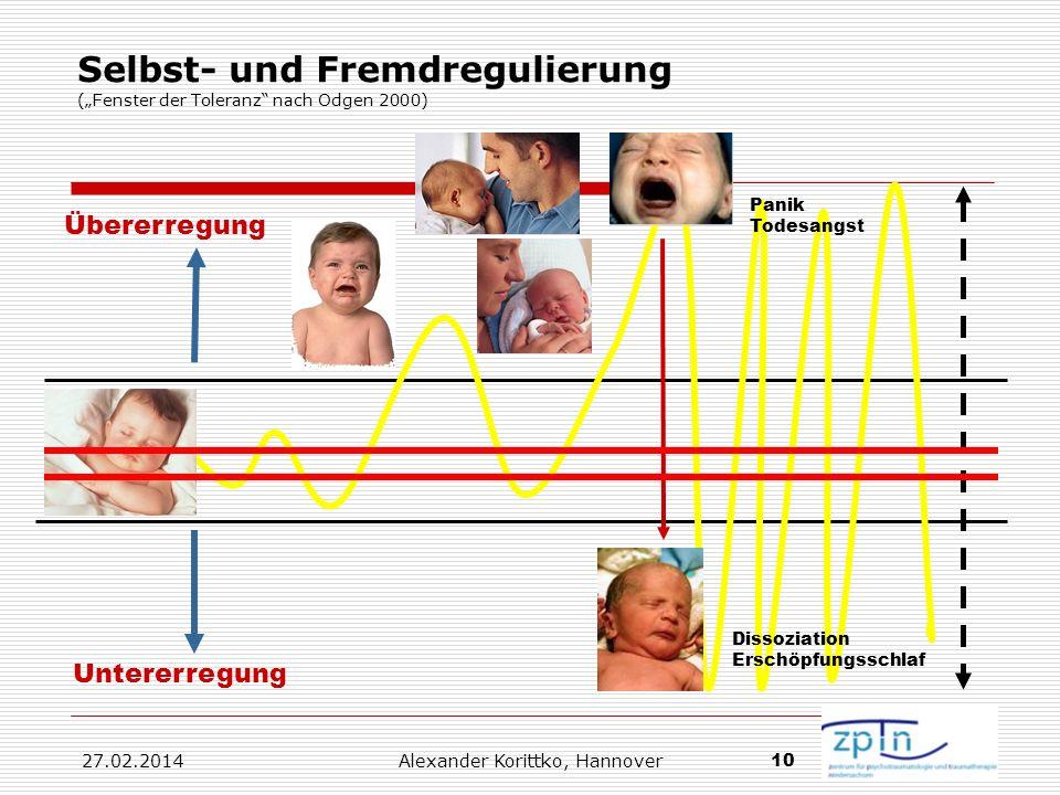 """Selbst- und Fremdregulierung (""""Fenster der Toleranz nach Odgen 2000)"""