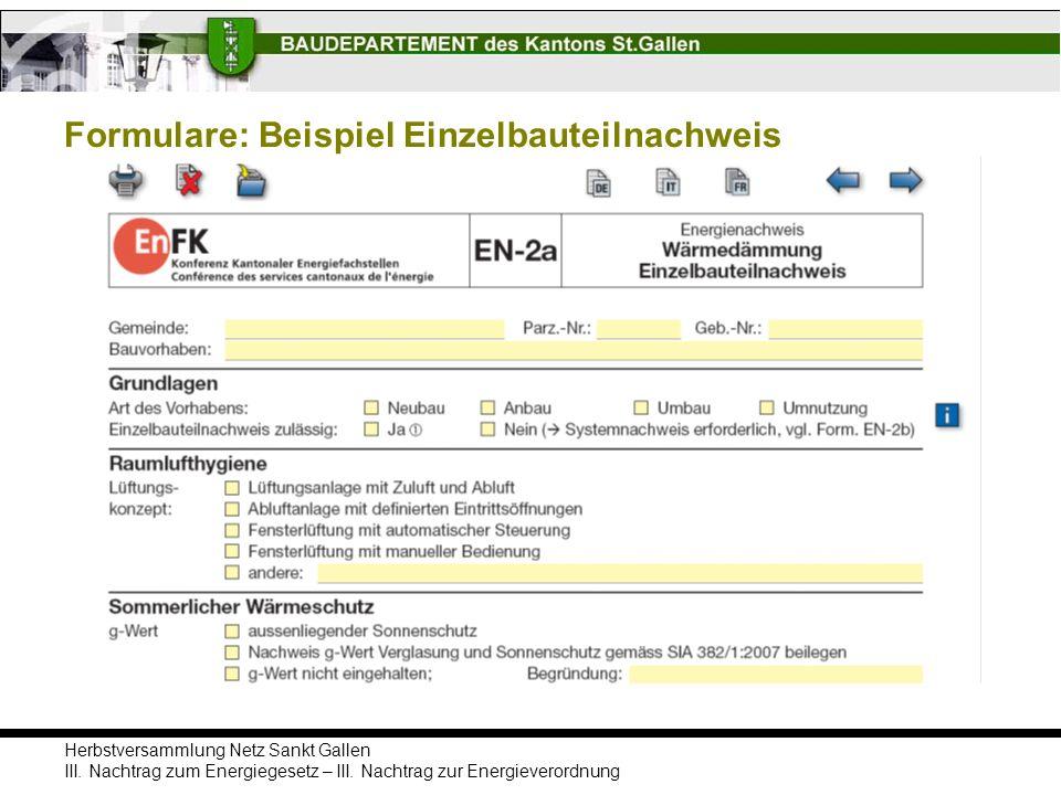 Formulare: Beispiel Einzelbauteilnachweis